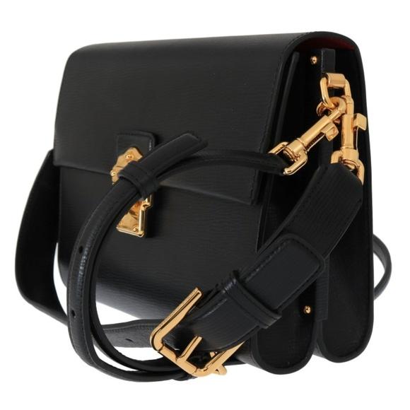 eb86e617af7 Dolce & Gabbana Bags | Dolce Gabbana Black Leather Lucia Messenger ...